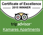 Tripadvisor 2015 certificate of excellence.